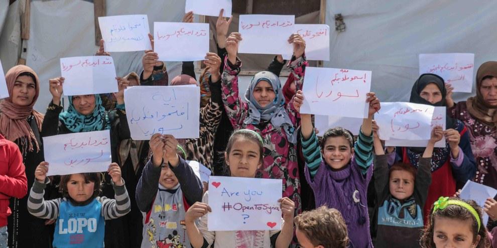 Seuls 35 pourcent des requérant·e·s d'asile syrien·ne·s ont obtenu le statut de réfugié en Suisse en 2015.  © Amnesty International