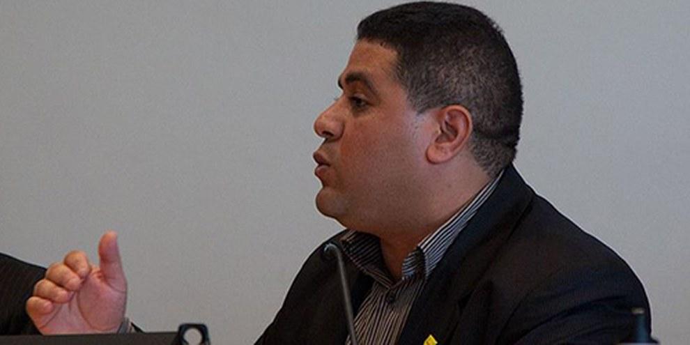 Lotfi Azzouz à l'Assemblée générale d'Amnesty Suisse. © AI