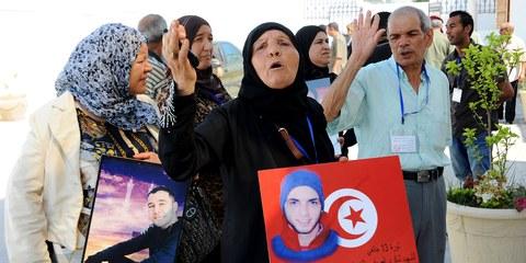 Cinq ans après la «révolution de jasmin», la Tunisie fait face à une nouvelle vague de répression brutale. © FETHI BELAID/AFP/Getty Images