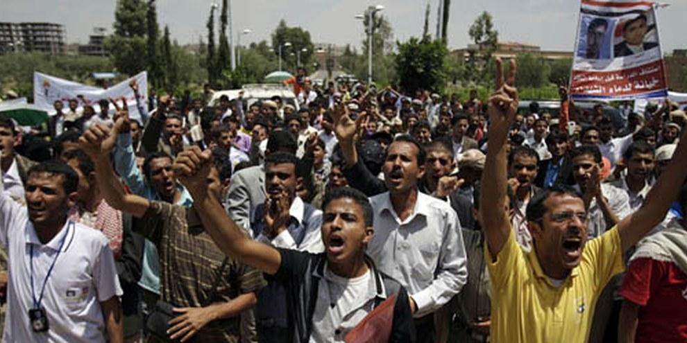Les manifestations de 2011 ont ébranlé le pays, comme ici à Sanaa. © APGraphicsBank