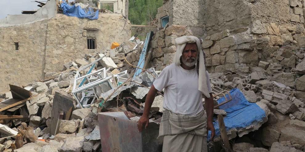Plus de 2 100 civils, parmi lesquels au moins 400 enfants, ont été tués au cour du conflit au Yémen.   © Amnesty International