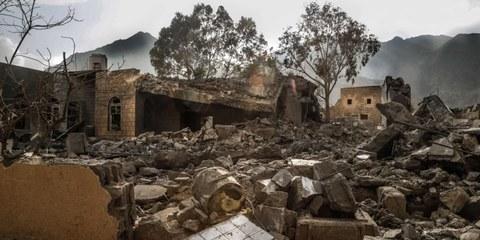 Un hôpital soutenu par Médecins Sans Frontières bombardé par la coalition menée par l'Arabie saoudite au Yémen. Octobre 2015. © Rawan Shaif