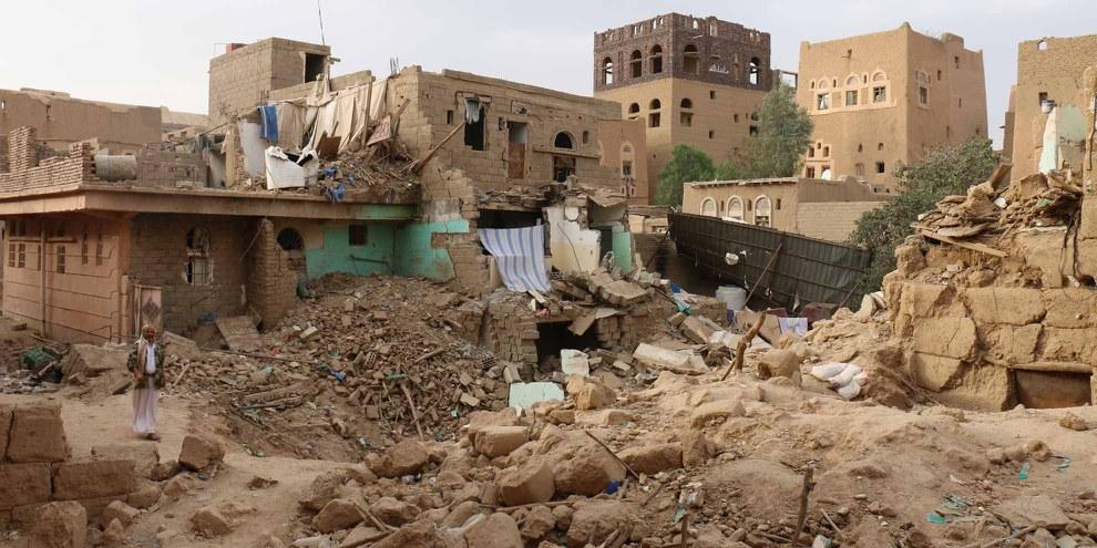 Le conflit qui dure entre les milices Houthis et la coalition menée par l'Arabie saoudite est le théâtre de crimes de guerre et autres sérieuses violations du droit international, jusqu'ici impunis. © Amnesty International
