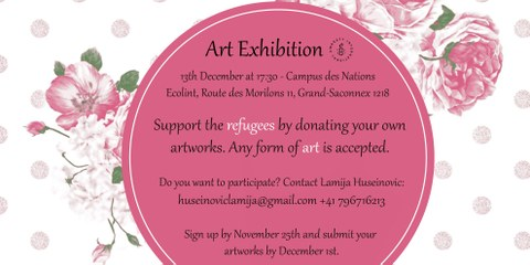 Exposition pour soutenir les réfugiés