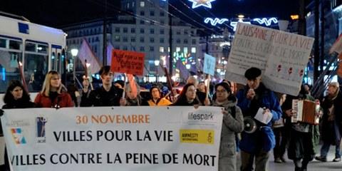Lausanne, Villes pour la vie, villes contre la peine de mort en 2016.  © santegidio.ch