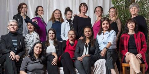 Candidates pour la liste n°7 des femmes au Grand Conseil de Genève.