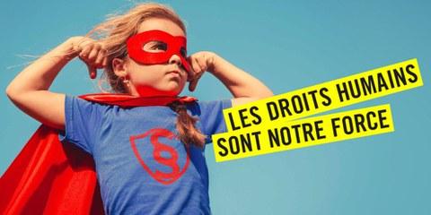 Action «Les droits humains sont notre force»