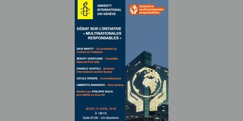 Débat sur l'initiative «Multinationales responsables»