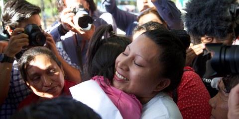 Teodora Vasquez a été relâchée après 10 ans de prison au Salvador. Son crime? Avoir fait une fausse-couche.