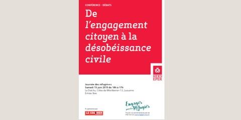 Conférence-débat: «de l'engagement citoyen à la désobéissance civile»
