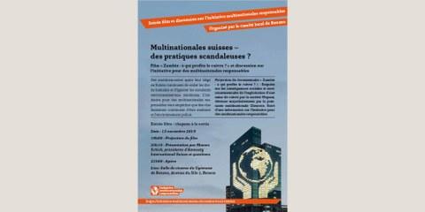 Multinationales suisses - des pratiques scandaleuses? Soirée film et discussion