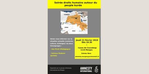 Soirée droits humains autour du peuple kurde