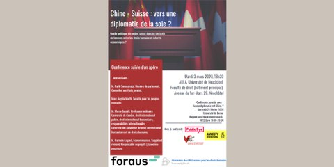 Chine - Suisse: vers une diplomatie de la soie?