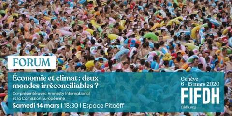 [ÉVÉNEMENT ANNULÉ] Economie et climat: deux mondes irréconciliables?