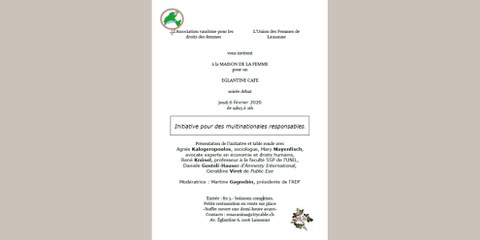 Initiative multinationales responsables - Présentation et table-ronde