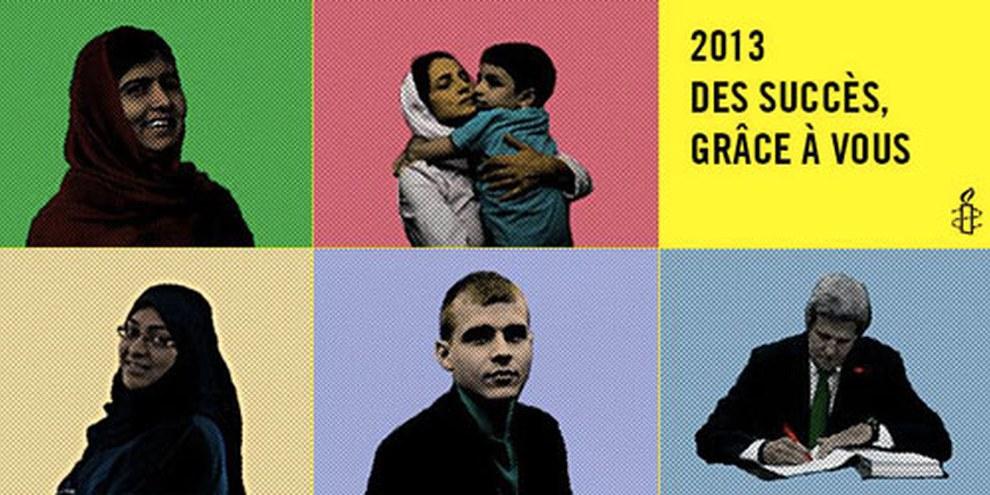 Grâce à ses membres et ses partisans, Amnesty International a accompli des succès importants en 2013. © Amnesty International