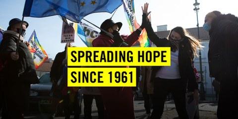 Depuis sa création en 1961, Amnesty s'engage en faveur de celles et ceux qui défendent les droits humains.
