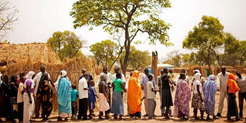Réfugiés Nuba dans le camp de Yida, au Soudan du Sud, avril 2012. © Pete Muller