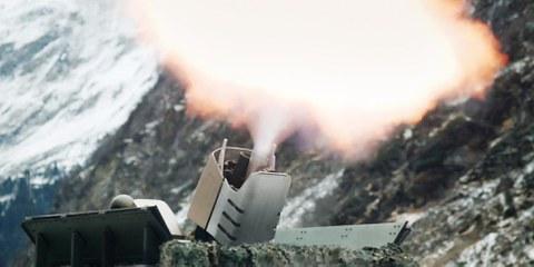 Mortier de 20 mm produit par l'entreprise suisse RUAG. © Ruag Schweiz / Wikicommons