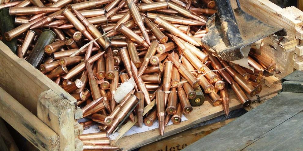 Boîte de munitions au Soudan © Amnesty International