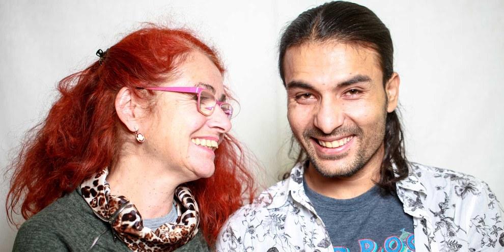 Karin Volken et Sohail Khan Ajab. © Petar Mitrovic