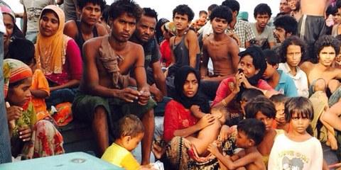 En mai 2015, des milliers de personnes originaires du Myanmar et du Bangladesh ont été victimes de violations perpétrées par les équipages de bateaux naviguant dans le golfe du Bengale et la mer d'Andaman. © Thapanee Ietsrichai