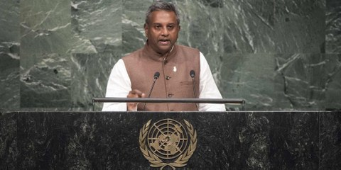Salil Shetty, secrétaire général d'Amnesty International. © UN Photo/Mark Garten