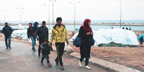Réfugiés sur l'île de Chio en Grèce. © Giorgos Moutafis