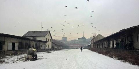 Nombre de réfugiés et de migrants dorment dans la rue dans des entrepôts abandonnés au centre de Belgrade, en Serbie, où les températures peuvent descendre jusqu'à - 20. ©AI
