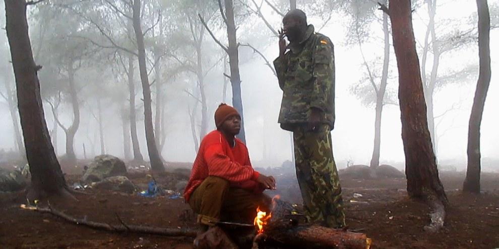 Pour leur documentaire «Les Sauteurs», les réalisateurs Moritz Siebert et Estephan Wagner ont confié une caméra de poche à Abou Bakar Sidibé, qui vivait sur le mont Gourougou depuis quinze mois et ne comptait plus ses tentatives de sauter la barrière. © FINAL CUT FOR REAL / Abou Bakar Sidibé