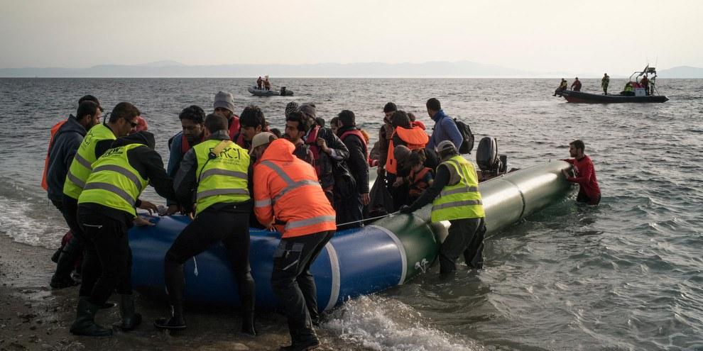 Depuis la fin de l'opération italienne «Mare Nostrum» en 2014, les ONG ont secouru plus de 80'000 réfugiés et migrants traversant la Méditerranée entre la Libye et l'Italie.©Amnesty International / Olga Stefatou