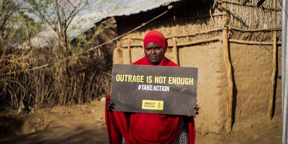 Leila dans un camp au Kenya. © Amnesty International/Magnum Photos