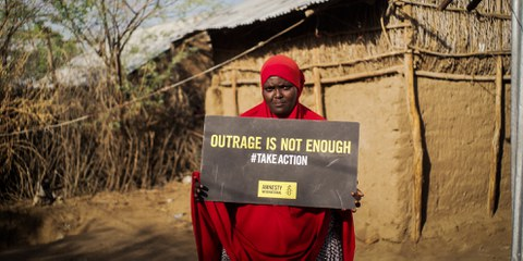 Leila dans un camp au Kenya. © Amnesty International/Magnum Photos
