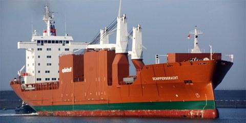 Le MV Schippersgracht aux Pays-Bas (19 novembre 2011) © Wim van der Moolen