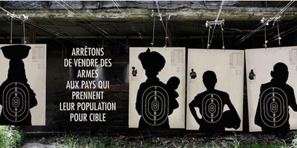 Amnesty International a mené de nombreuses campagnes afin d'inciter les gouvernements du monde entier à signer le TCA. © TBWA/Paris