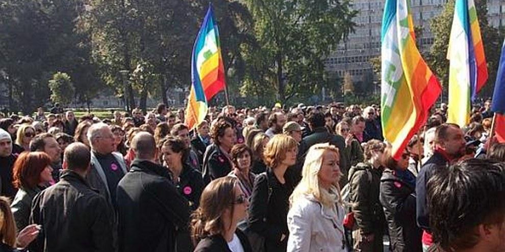 La première Gay Pride organisée à Belgrade depuis près de dix ans. © AI