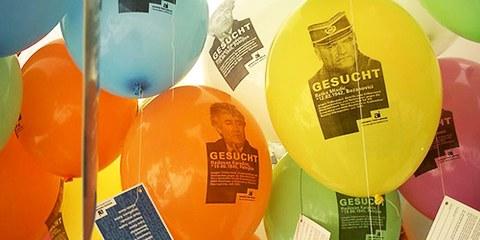 En 2009, Amnesty International organisait un lancé de ballons à Bad Honnefer, en mémoire du massacre. © AI