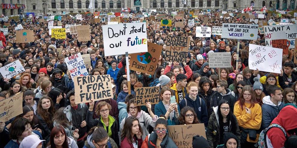 La jeune génération se sent particulièrement concernée par le changement climatique. ©Mitja Kobal