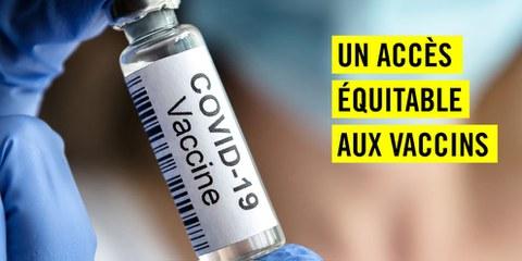Pour une Suisse solidaire dans la lutte contre la pandémie !