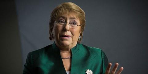 La nomination de Michelle Bachelet à la tête du Conseil des droits de l'homme intervient à une époque de grand tumulte pour les droits humains.© Suzanne Plunkett