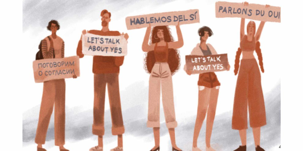 Ce nouvel outil éducatif en ligne a pour dessein d'approfondir les connaissances au sujet des violences sexuelles et du viol en tant que grave violation des droits humains. ©AI