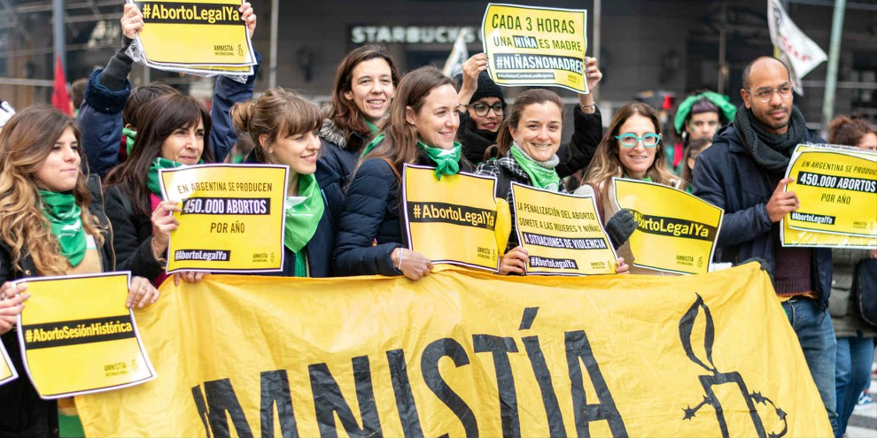 Manifestation pour la légalisation de l'interruption volontaire de grossesse en Argentine. © AI / Demian Marchi
