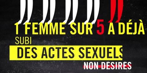 L'enquête menée auprès de 4500 femmes et filles a montré que la violence sexuelle est plus répandue que prévu. Cliquez sur l'image pour plus de graphiques. gfs.bern / Amnesty Suisse