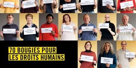 70 bougies pour les droits humains