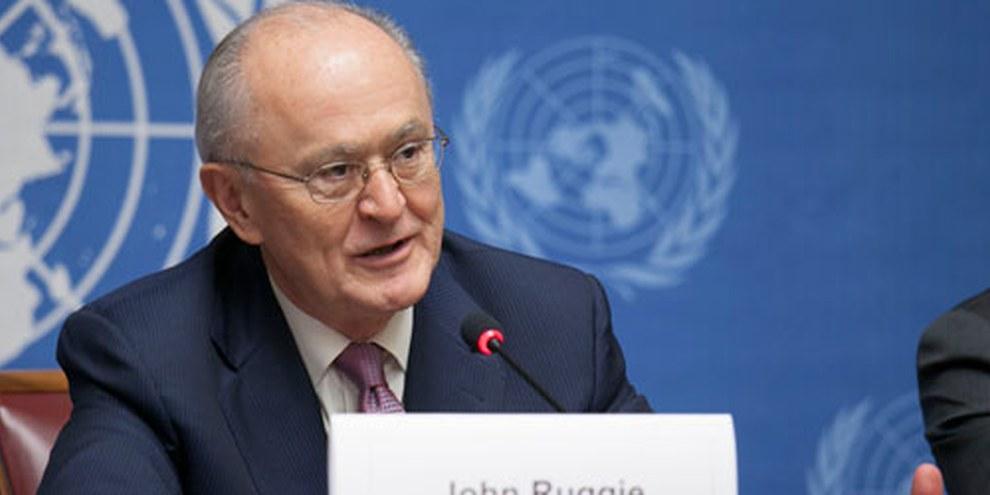 Prof. J. Ruggie, Représentant spécial de l'ONU sur les entreprises et droits humains.