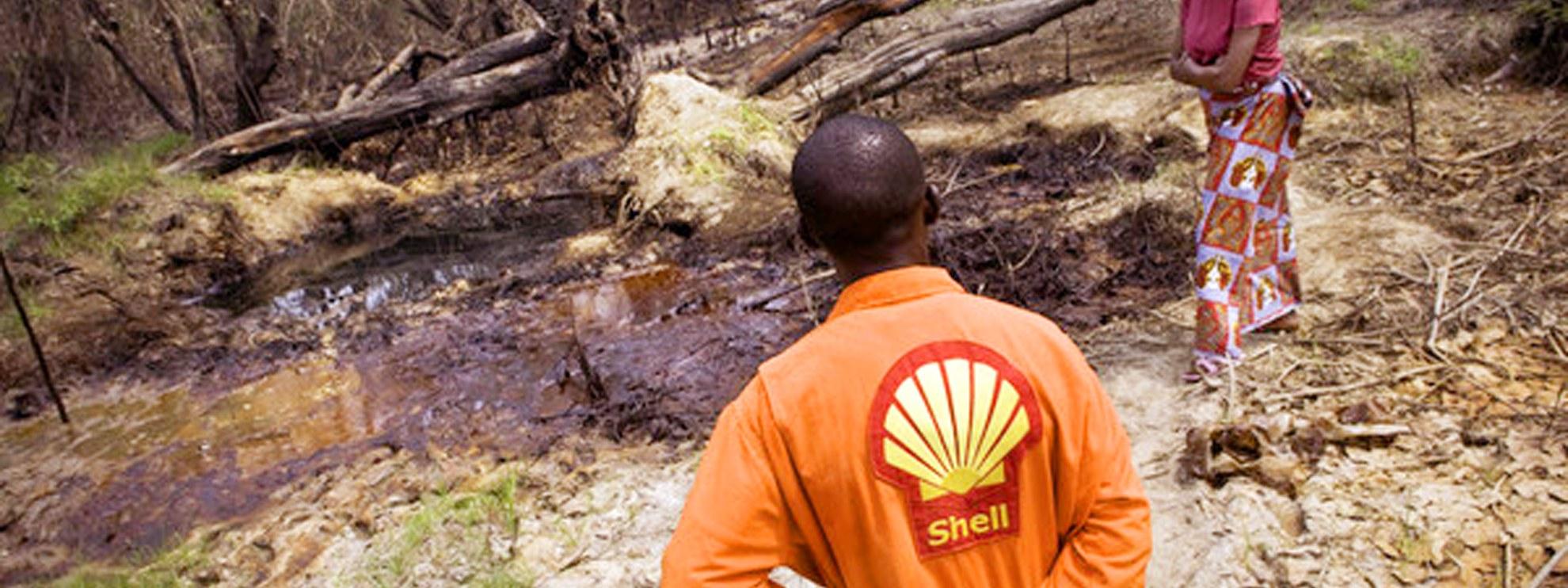 Sur le bord d'un champ pollué par du pétrole à Iwhrekan, Delta du Niger, 25 février 2008. © Kadir van Lohuizen/NOOR