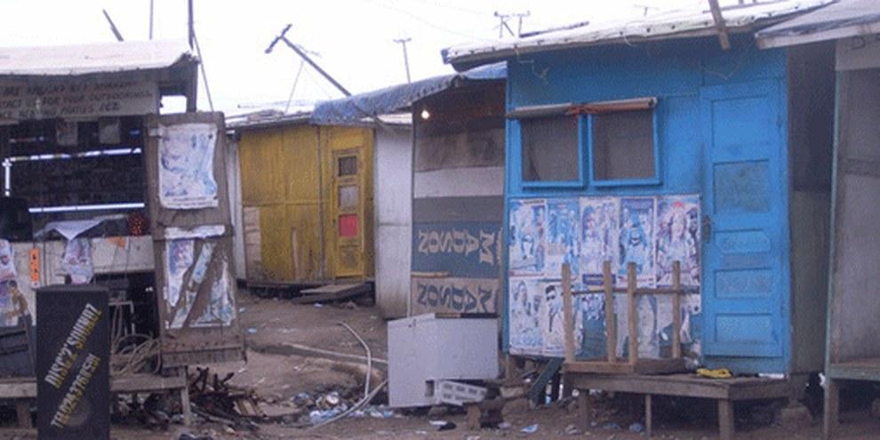 Bidonville de Old Fadama, Accra, Ghana. © AI