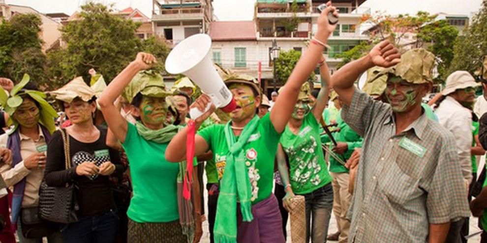 Expulsions forcées au Cambodge, Phouk Hong. © AI
