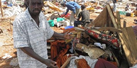 Expulsions forcées à Nairobi, Kenya. © AI