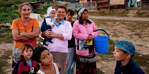 En septembre 2011 déjà, de nombreuses familles roms avaient été expulsées de Baie Mare. © Mugur Vărzariu
